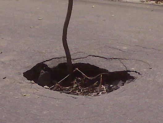 Buraco na rua