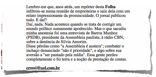 Recorte da coluna de Clovis Rossi na Folha (07.04.09)