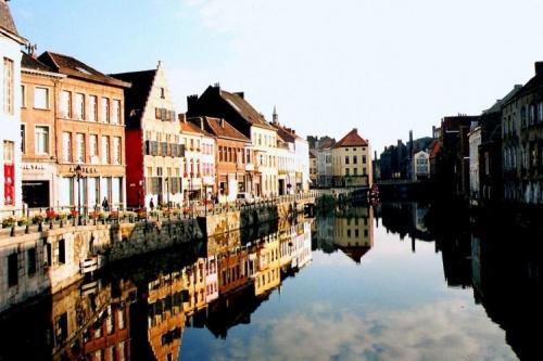 Imagem da cidade de Ghent, Bélgica