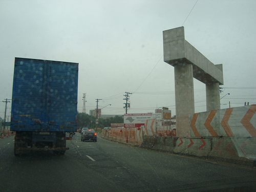 Obras na Marginal Tietê