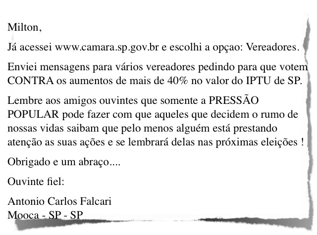 e-mail IPTU