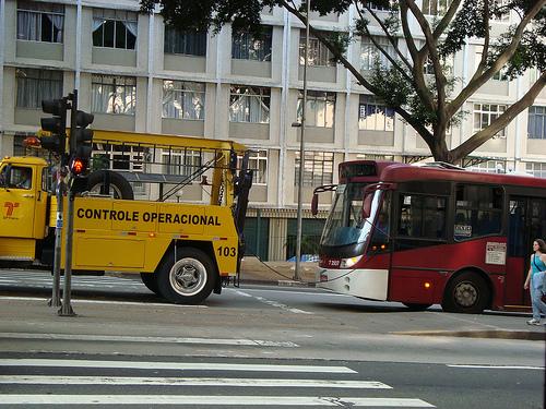 Transporte de ônibus em São Paulo (Foto: Marcos Paulo Dias)