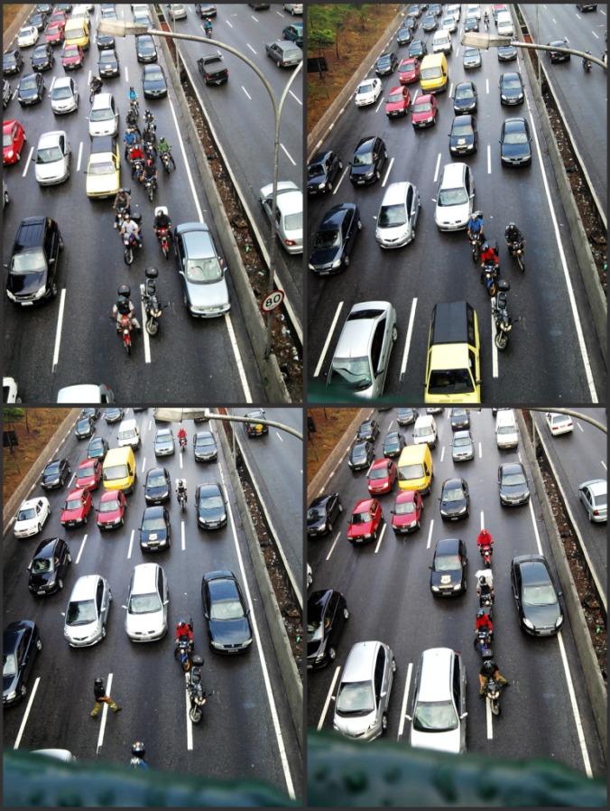 Colagem de fotos de moto