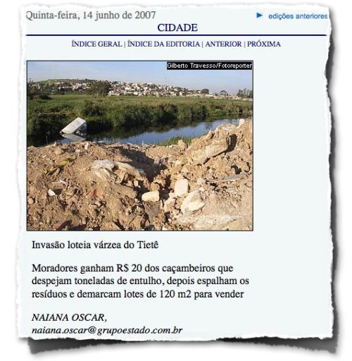 Recorte do Jornal da Tarde 14.06.2007