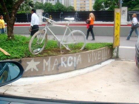 Homenagem a cicilista Márcia Prado