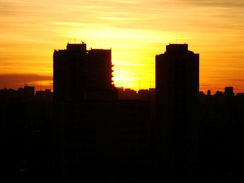 Pôr de sol em São Paulo