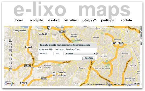 E-lixo Map