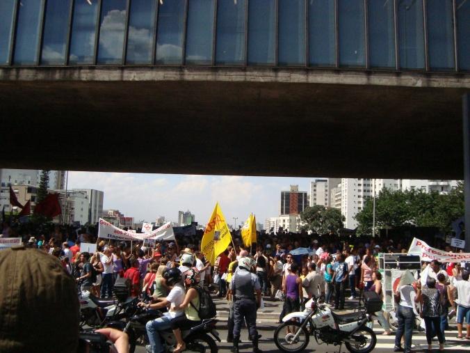 Greve dos professores, no Masp Foto Marcos Paulo Dias, ouvinte-internauta