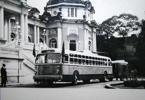 Trolebus Grassi, o primeiro nacional, em 1958, feito sob licença dos Estados Unidos.