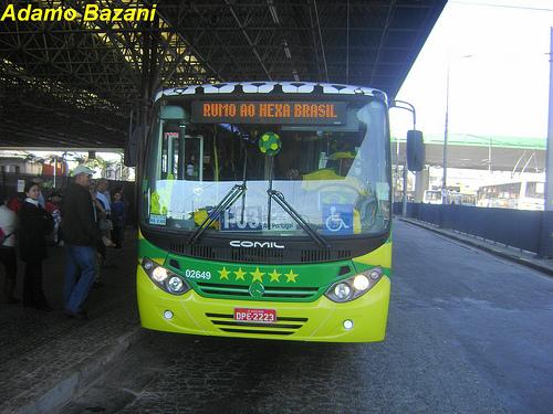 Ônibus da Copa em Santo André