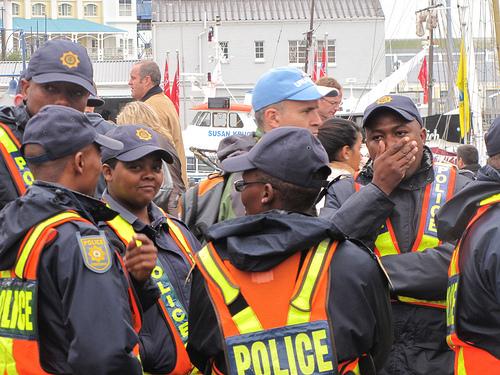 Policia na Cidade do Cabo