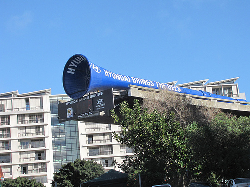 Vuvuzela gigante na cidade do Cabo
