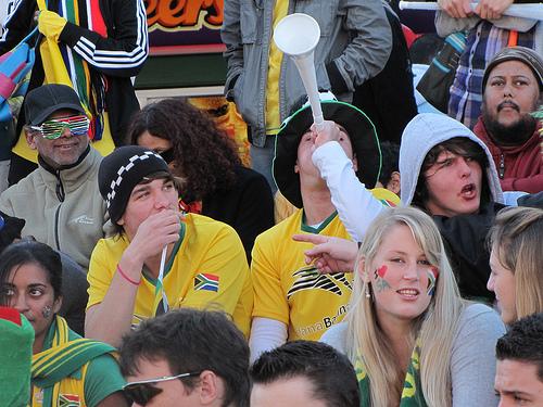 Torcedores na Cidade do Cabo