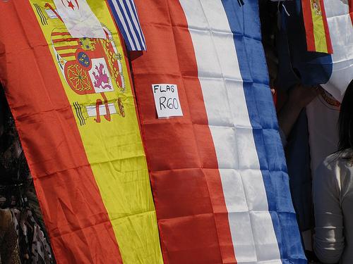 Bandeira francesa em liquidação na Cidade do Cabo