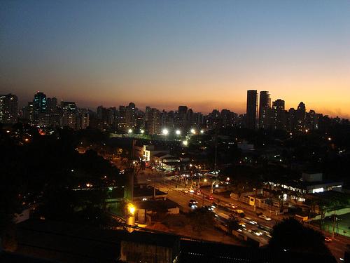 Fim de tarde na Ibirapuera