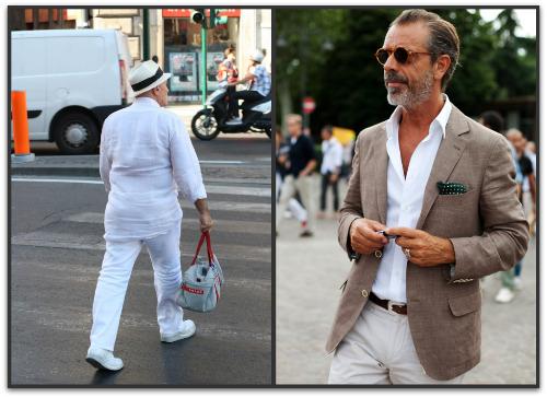 Homens velhos e com estilo
