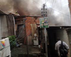 Incêndio na favela Real Parque