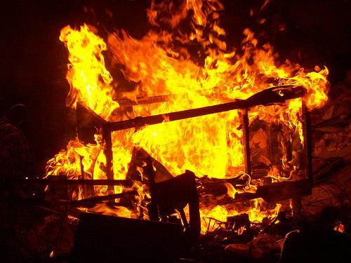 Móveis queimados