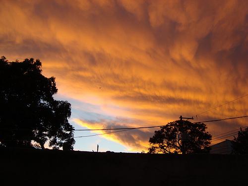 Pôr do sol na Vila Rosária