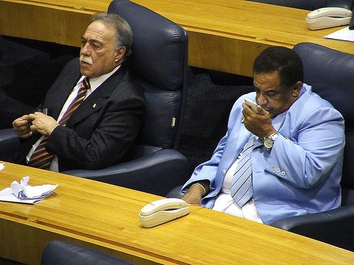 Vereadores em plenário
