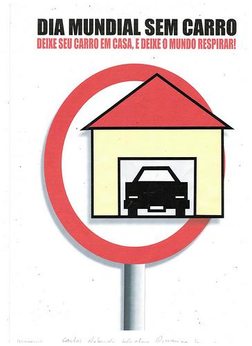 Cartaz dia mundial sem carro
