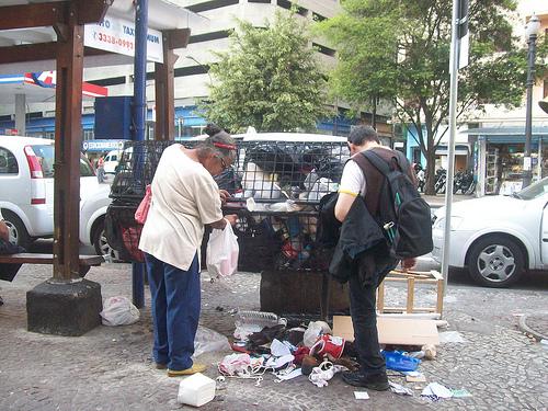 Atraídos pelo lixo , lixo desorganizado