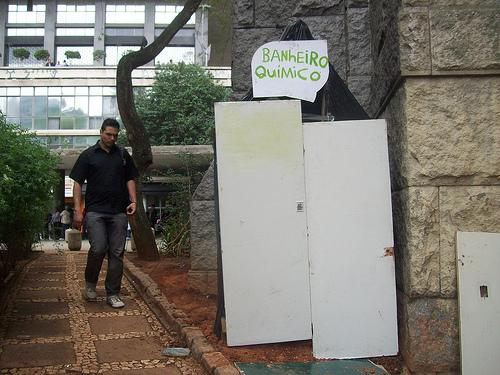 Banheiro do Ocupa Sampa