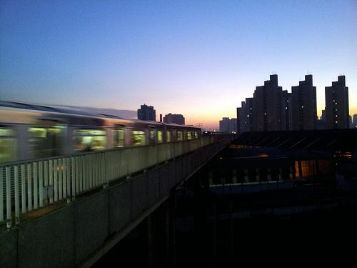 Trem da CPTM no Brás