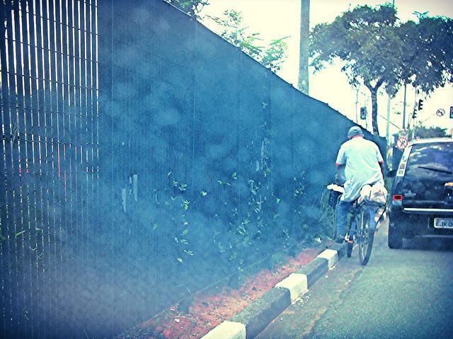 Bicicleta na Avenida Tiradentes