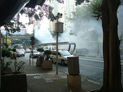 Poluição na 9 de Julho