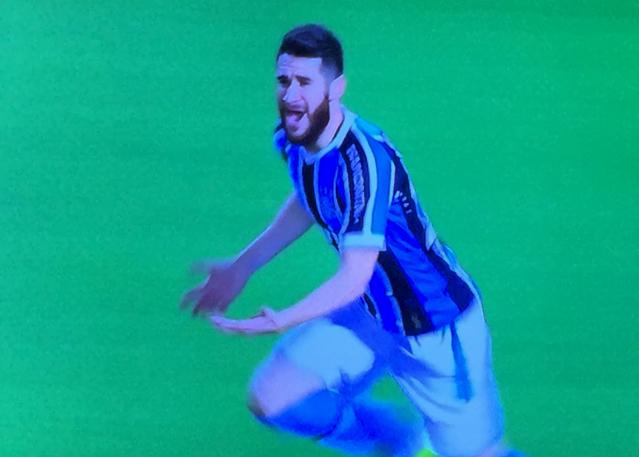 Marcelo Oliveira em imagem reproduzida da transmissão da SporTV